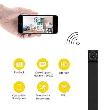 Mini cámara espía, Fredi HD 720P portátil WiFi Cámara de vigilancia