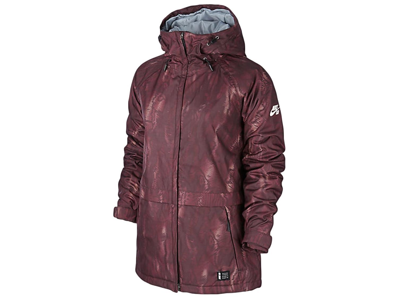 5d9431eb7105 Nike SB Lustre Print Snowboarding Jacket Burgundy Mango 626081-634 (S)   Amazon.in  Clothing   Accessories