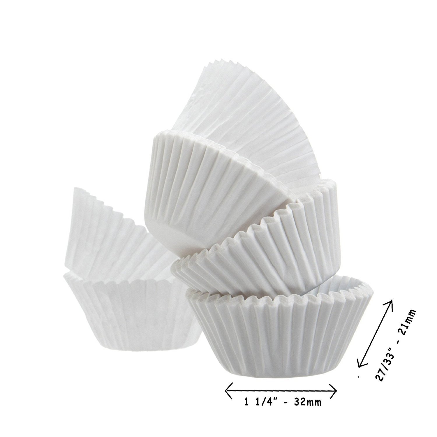 Baking Cup A World of Deals Best Quality Standard Size White Cupcake Paper 4 Packs Cup Liners 500 Pcs A World of Deals® AWOD5668