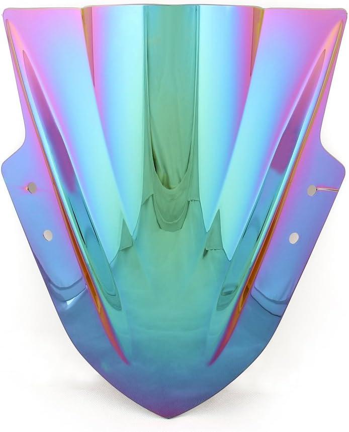 Areyourshop Windshield WindScreen Double Bubble For Kawasaki Ninja 300 EX300 2013-2017 Iridium