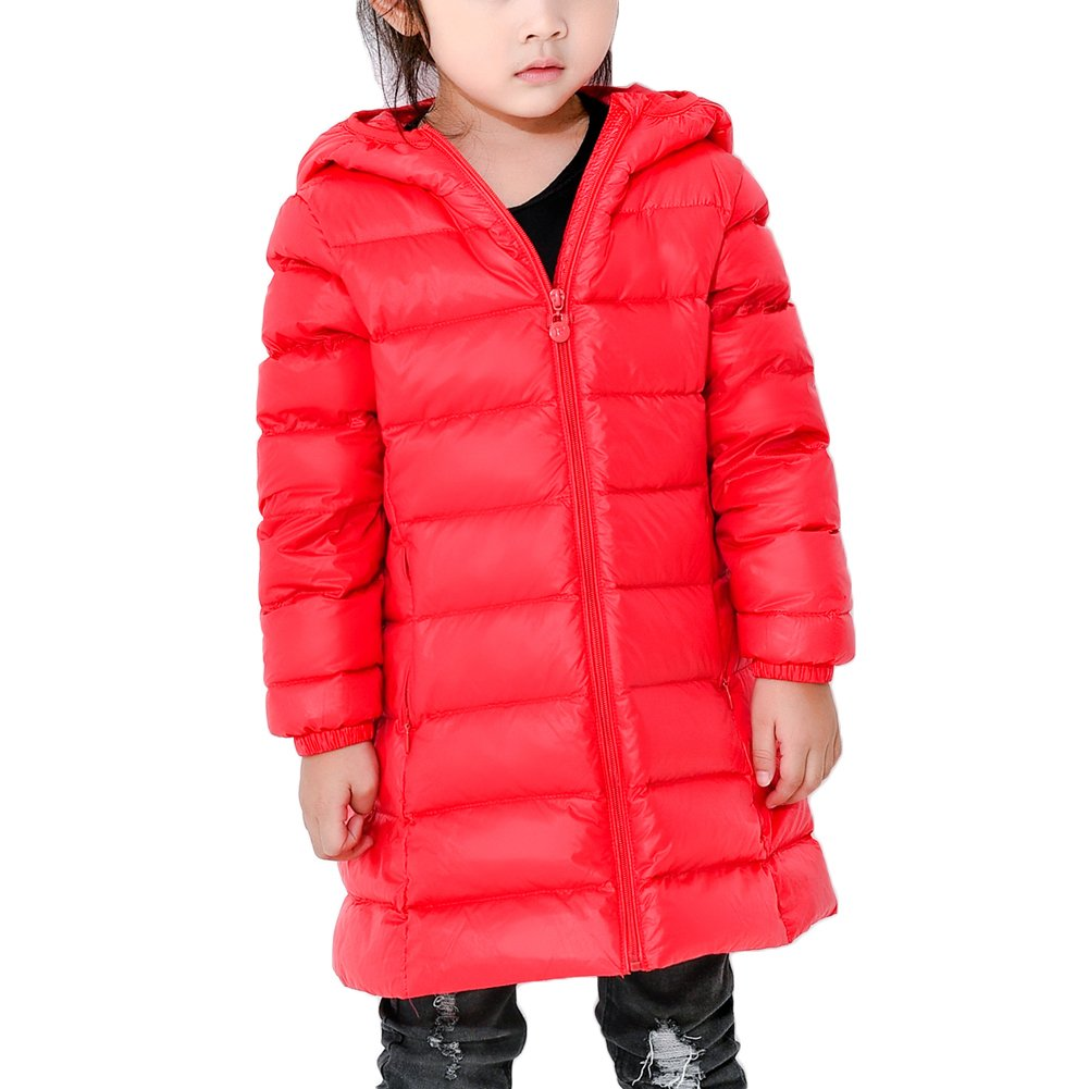 Bmeigo Child Girls Hooded Medium-long Overcoat Zipper Winter Down Jacket Guangzhou Bmeigo Co. Ltd