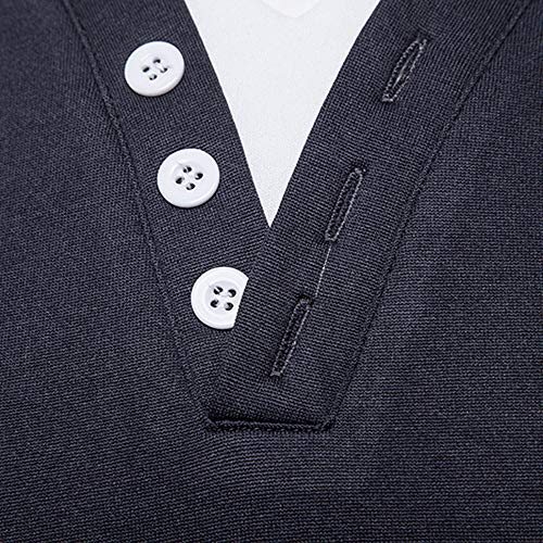T La Mode Foncé8 V Slim Sweater Pas Homme shirt Manches Longues Pull Elecenty Cher Hiver Pullover Gris Col Chaud À dwFdqS