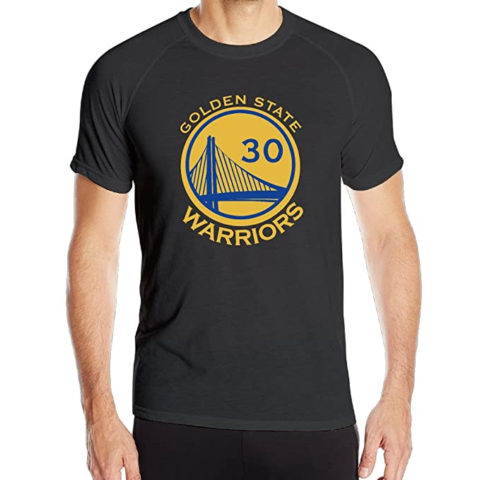 T&Tat Mens GS Warriors Stephen Curry 30 Steph Winner Quick Dry Athletic Tshirt Small