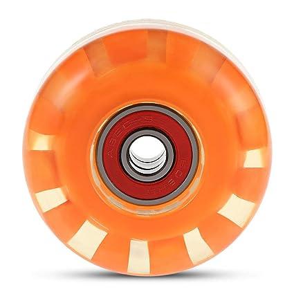 XU-XIAZHI,Cuatro Ruedas de Skate para olipunk y Saltos(Color:Naranja ...