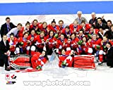 Team Canada Womens Olympic Hockey Team Celebrates winning the Gold Medal 2014 Winter Olympics Photo 11 x 14in