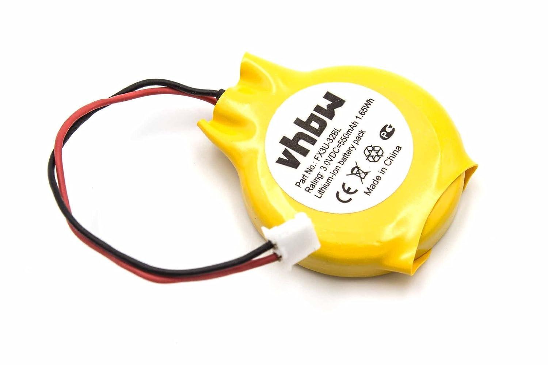 vhbw Li-Ion Bios Batterie 550mAh (3V) fü r Mitsubishi Melsec FX2N, FX3N, FX3U wie GT11-50BAT, FX3U-32BL. VHBW4251215332066