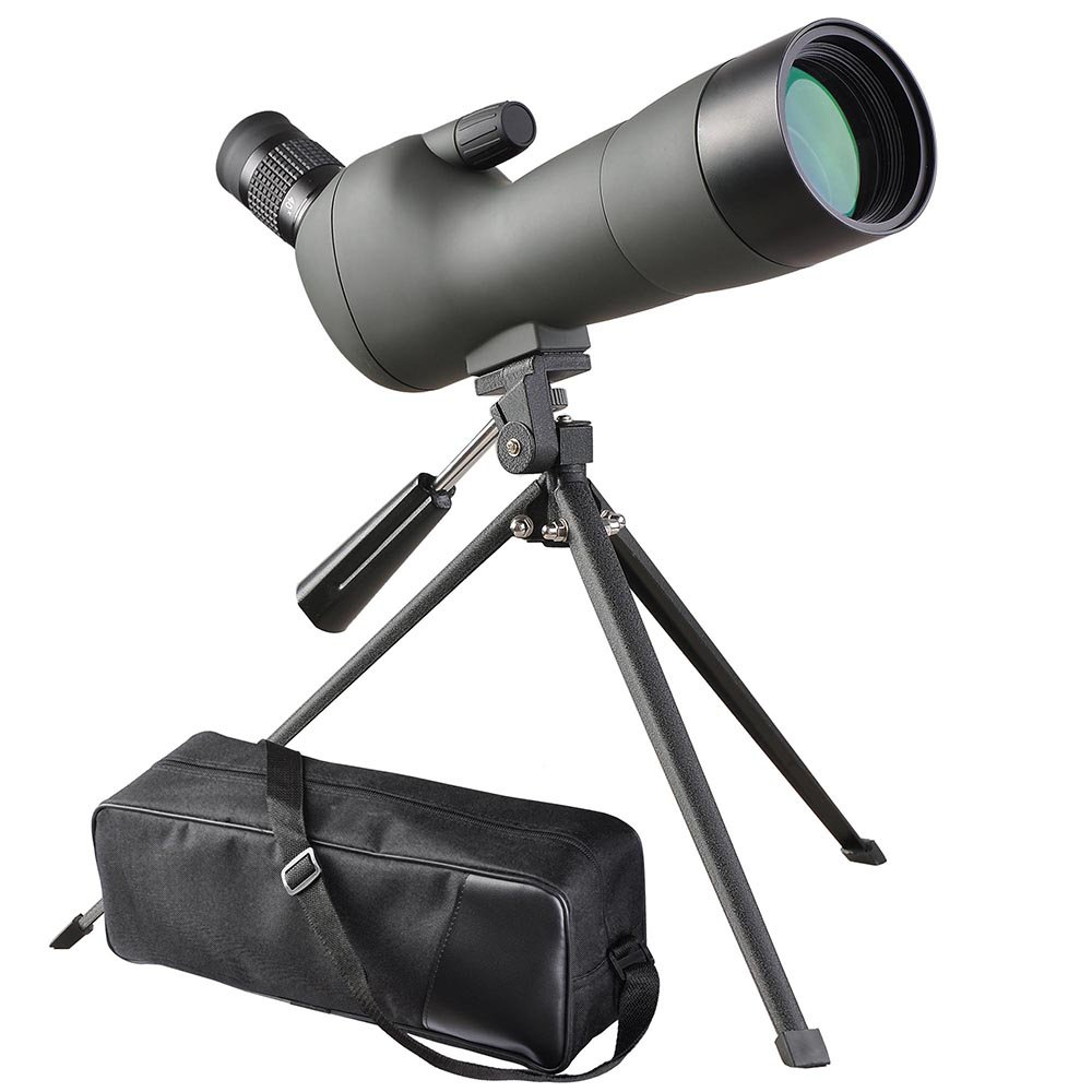 AW 20-60x60mm Zoom Angled Spotting Scope Monocular Telescope Angled Eyepiece Waterproof with Tripod & Soft Case by AW