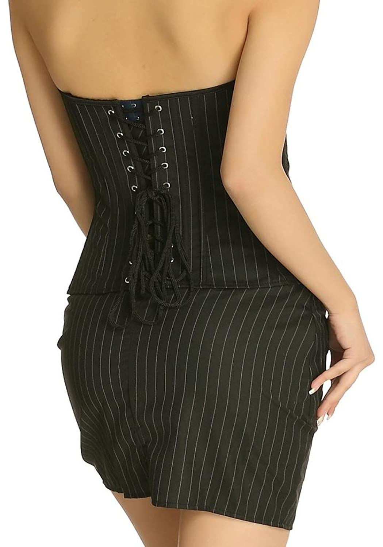 Jusian Women's Boned Bustier Dress Sets