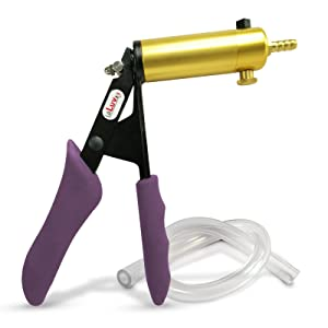 LeLuv Ultima Purple Silicone Grips Vacuum Pump Handle with Clear Hose