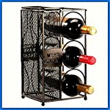 Modern Kitchen Appliances 3 Bottle Rack Cork Cages Collector.Black Metal Wine Racks.Countertop Display Holder.Freestand Table Cellar W Ball End Feet & Door.Modern Design Small Indoor Appliances For Home Kitchen Pub Bar Decor