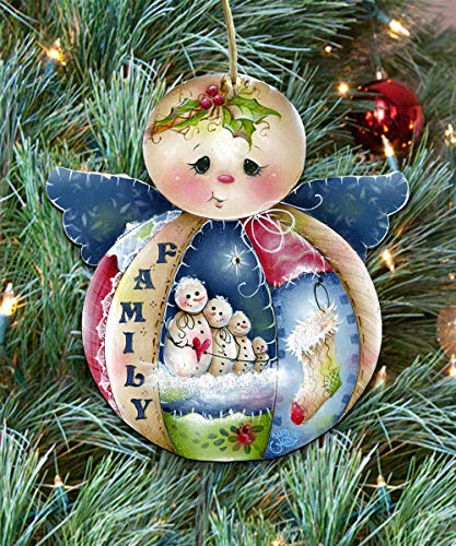 Christmas ornaments - Wooden Christmas Tree Ornaments - Christmas Decorations for Holiday by Jamie Mills-Price 8457504]()