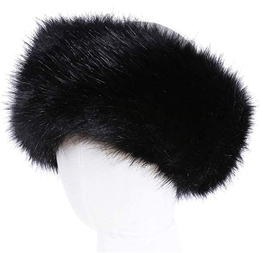 wonderful lifetime Unisex Faux Fur Headband Earwarmer Earmuff Ski Hat  (Black) at Amazon Women s Clothing store  b976d7c7bc2