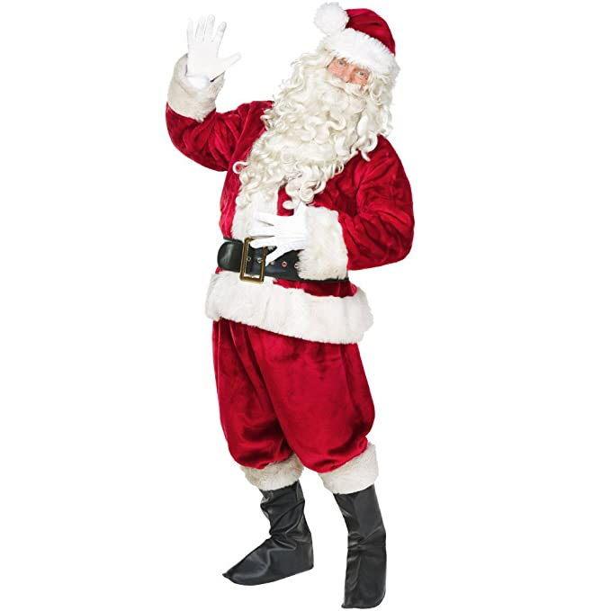 Amazon.com: Jolly old St. Nick Premium Hombres Adultos traje ...