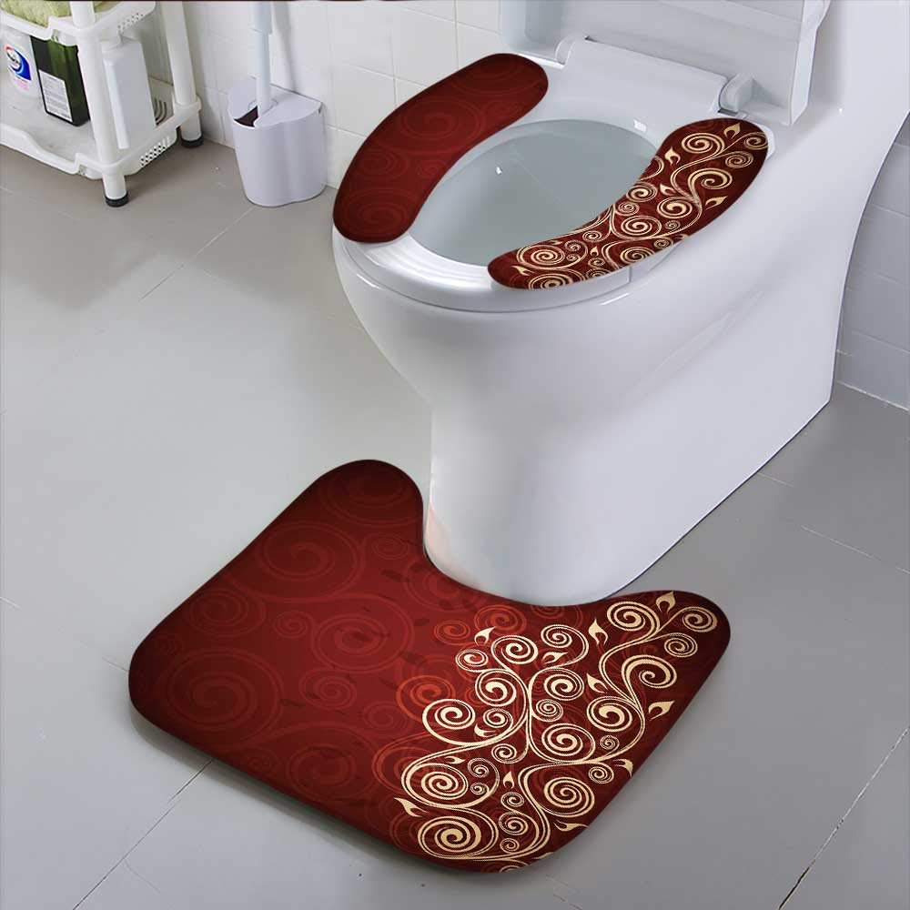 HuaWu-home Universal Toilet SeatAbstract Floral Safety and Hygiene
