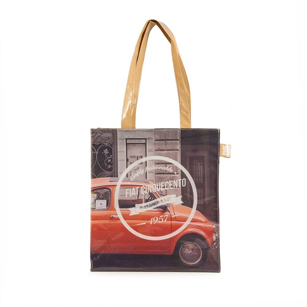 FIAT 500 Damen Shopper, PVC, Mehrfarbig FIBO06