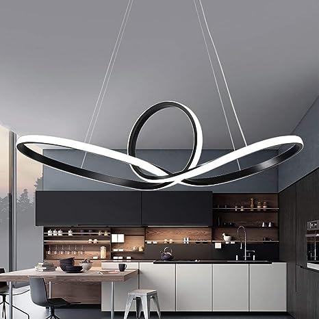 Modern colgante LED - Lámpara salón dormitorio Negro ...
