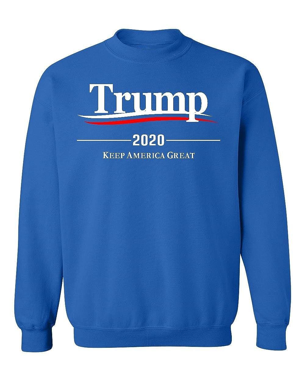Promotion /& Beyond Trump 2020 Keep America Great Wavy Crewneck Sweatshirt