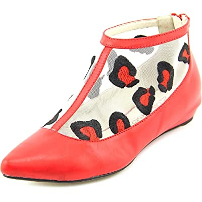 2 Lips Too Too Shy Women Pointed Toe Synthetic Red Flats