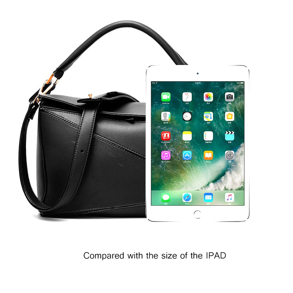 ac890a6925f Yoome Women s Faux Leather Casual Tote Bag Boston Shoulder Bag Contrast  Color Ipad Purses and Handbags - Black  Amazon.co.uk  Shoes   Bags