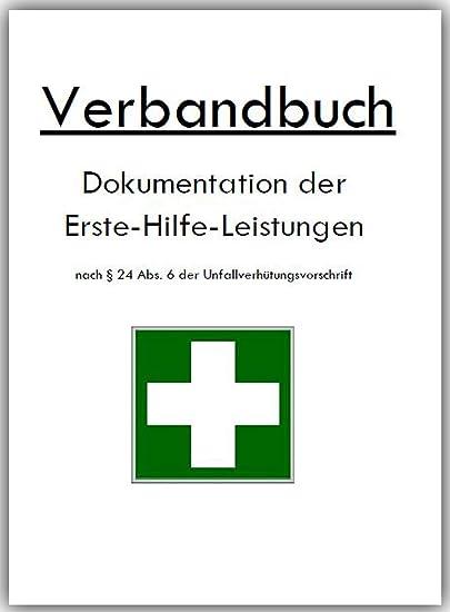 Verbandbuch Unfallbuch Stand 2018 DIN A5 doppelte Seitenanzahl GRÜN