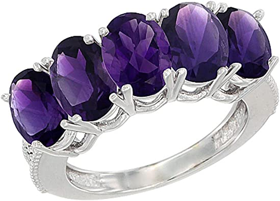 Sterling Silver /& 14k Five-stone and Diamond Mothers Ring Semi-Mount Size 6 Length Width 4