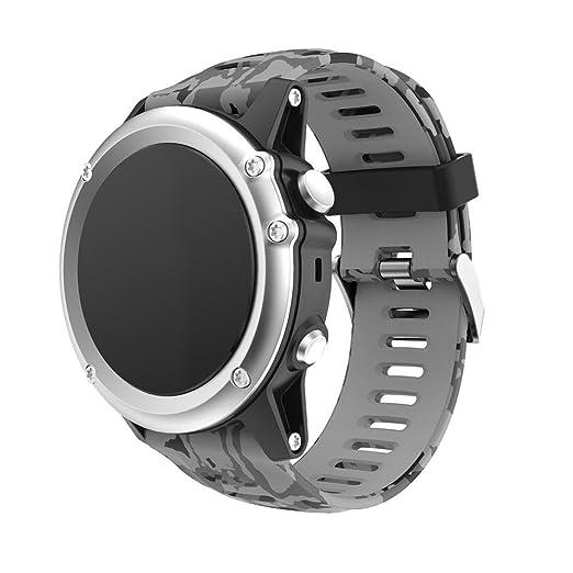 Garmin Fenix 3 GPS Watch Strap Silicona para Hombre de Suave Pulsera ...