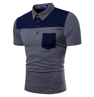 Herrenmode Mode Farbwechsel Revers Trend Polo Kurzarm T-Shirt ...