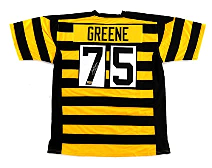 separation shoes 3a886 0155f Joe Greene Signed Pittsburgh Custom Bumblebee Jersey with ...