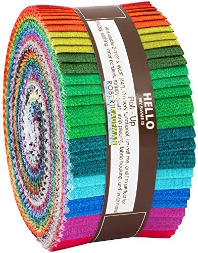 Fresh Hues Ombre Roll Up 40 2.5-inch Strips Jelly Roll Robert Kaufman Fabrics RU-838-40