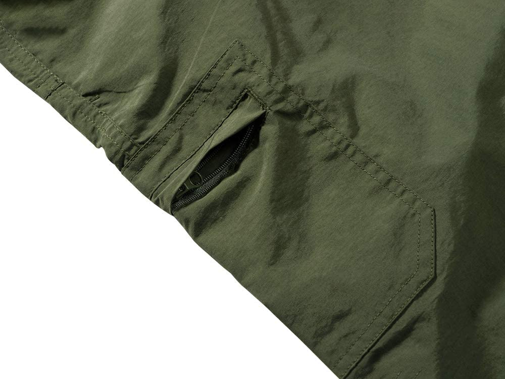 Jessie Kidden Mens Outdoor Casual Expandable Waist Lightweight Water Resistant Quick Dry Fishing Hiking Shorts