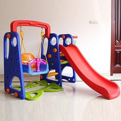 Thole Infantil Toboganes y Columpios Juguetes Niños Diapositiva para con Canasta Interior/Exterior/Parque/Jardín Adecuado para bebé de 2-8 años,A: Amazon.es: Deportes y aire libre