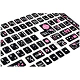 Sanrio Hello Kitty Computer Keyboard Stickers for Korean : Black
