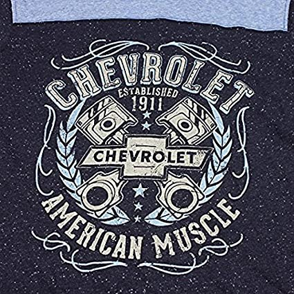 GM Chevrolet Chevy American Muscle Speckle Long Sleeve T Shirt Licensed