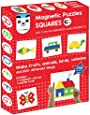 Play Panda Magnetic Puzzles : Squares - Includes 200 Magnets, 100 Puzzles, Magnetic Board