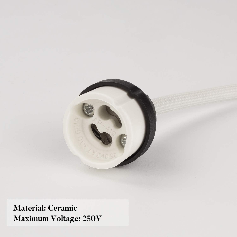 2A GU10 Connecteur base en cr/éramique pour ampoule GU10 DiCUNO GU10 Support de lampe 0.75mm/² 15CM//150MM fil 0-250V 6 Paquets