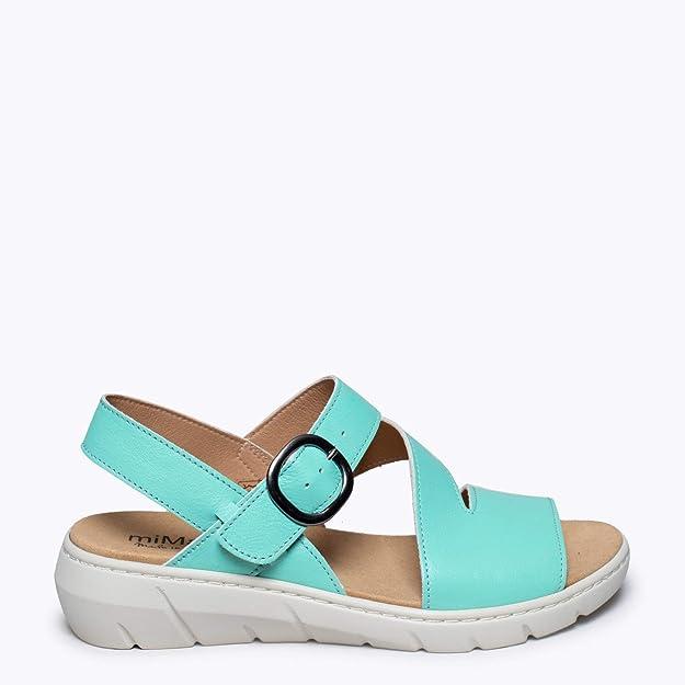Zapatos miMaO. Zapatos Piel Mujer Hechos EN ESPAÑA. Sandalia ...