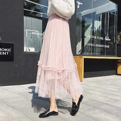 MEILIDE Falda para Mujer Nueva Falda de Pastel de Malla de Cintura ...