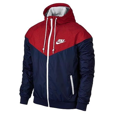 600b682de954 2015 Nike Golf Dri-Fit Windrunner Mens Golf Jacket Midnight Navy Gym Red  XL