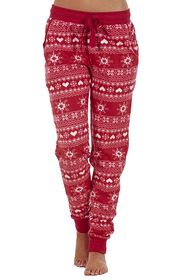 Ex Highstreet Ladies Cuffed Fairisle Nightwear Pyjama's Loungewear Fleece PJ Bottoms ex High Street