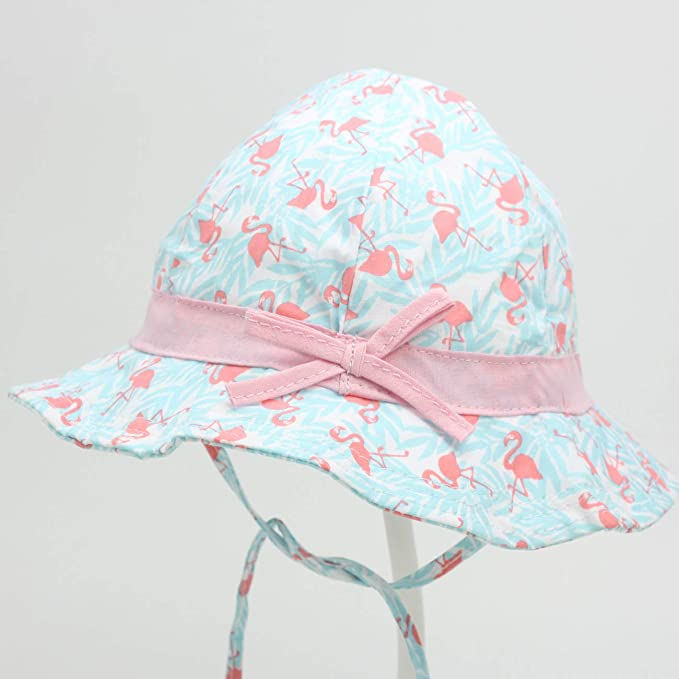 Baby Girls Plain Bow Sun Hat