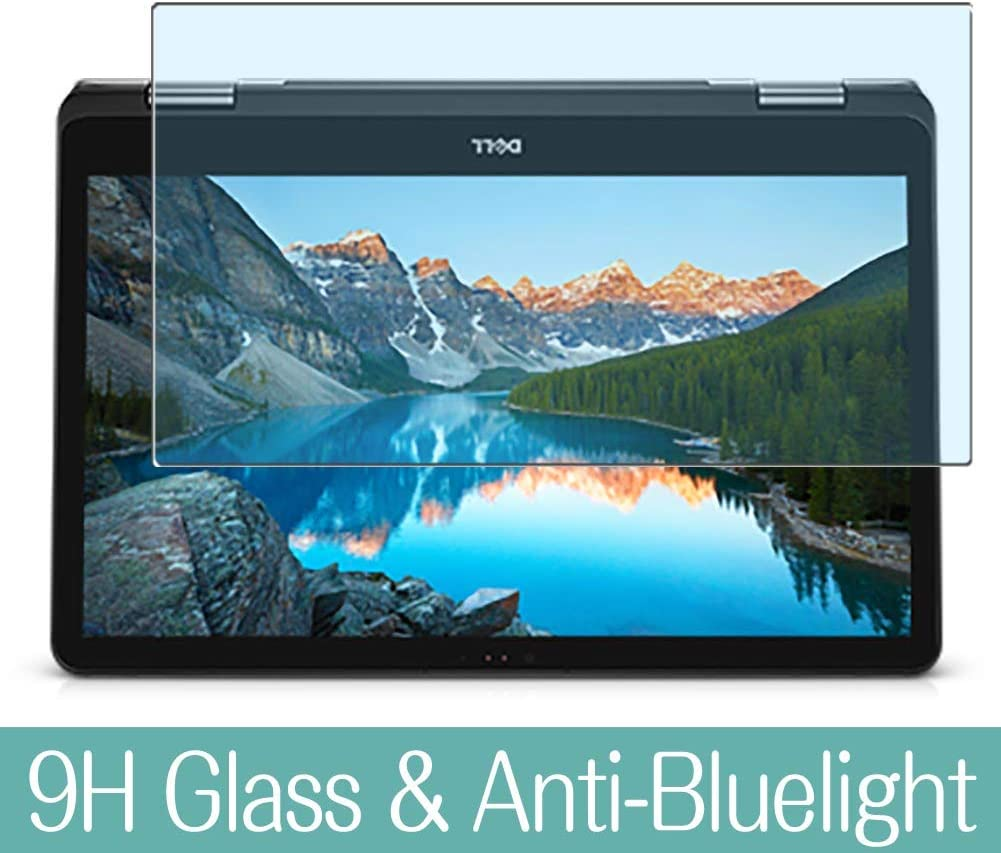 Synvy Anti Blue Light Tempered Glass Screen Protector Compatible with Dell Inspiron 17 7000 (7773) 2-in-1 17.3