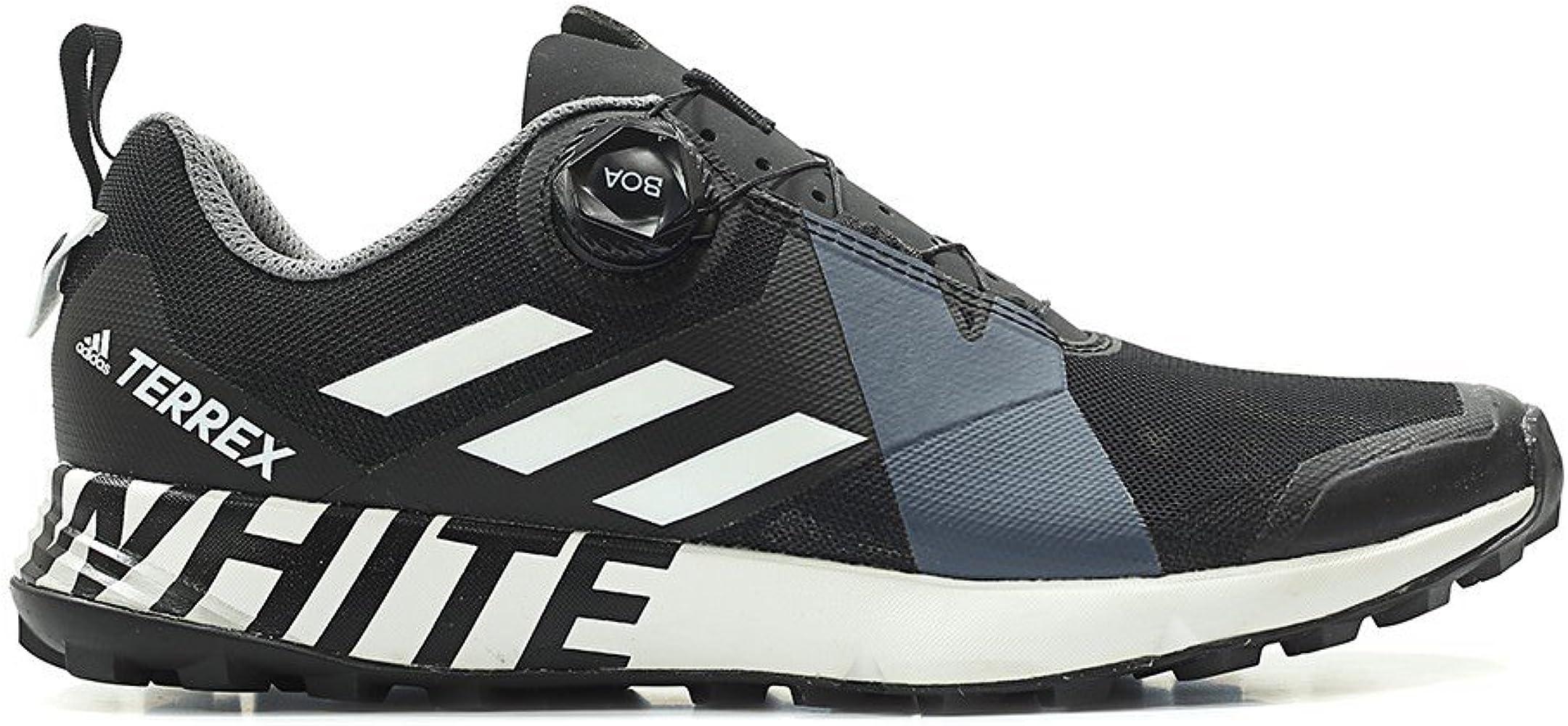 Cumplir Demostrar es bonito  Amazon.com | adidas Men White Mountaineering Terrex Two Boa Black Footwear  White core Black Size 8.0 US | Fashion Sneakers