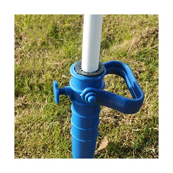 Yardwe 2Pezzi Picchetto di Supporto per ombrellone Mare Spiaggia in plastica Porta ombrellone da Spiaggia,Blu (16.5 x 7… 2 spesavip