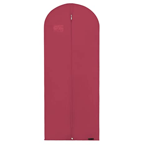 Hangerworld 5 Funda Porta Traje 152cm Funda Transpirable Anti-Polilla Anti-Polvo Burdeos con Cremallera
