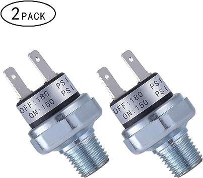 Vixen Horns 120-150 PSI Air Pressure Switch Tank Mount Type 1//4 NPT 12V//24V for Train//Air Horn VXA7150