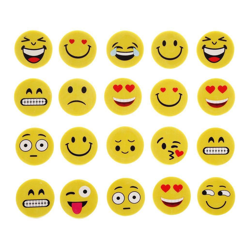 tandou 4pcs Emoji Smile Gomme gomme in gomma assortiti cancelleria Studio Regali di studio