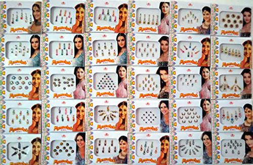 12-different-packets-of-india-traditional-bindi-tika-tattoo