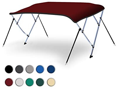 Boat Bimini Top Cover with Aluminum Frame for Yacht, Sailboat, Boat, Pontoon detail review