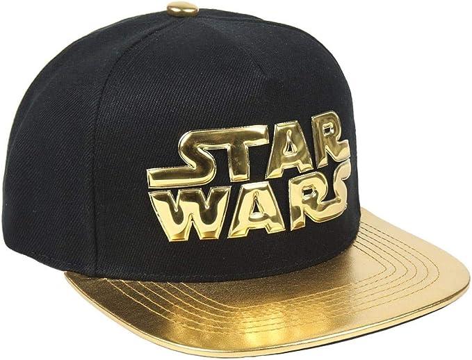 ARTESANIA CERDA Gorra Visera Plana Star Wars Gold, Negro (Negro ...