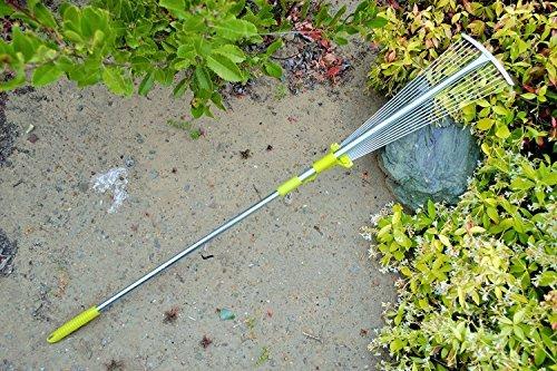 MLTOOLS Leaf Rake Adjustable Width